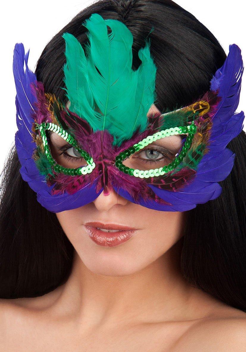Ansiktsmask - Multicolor Feathers Eyemask