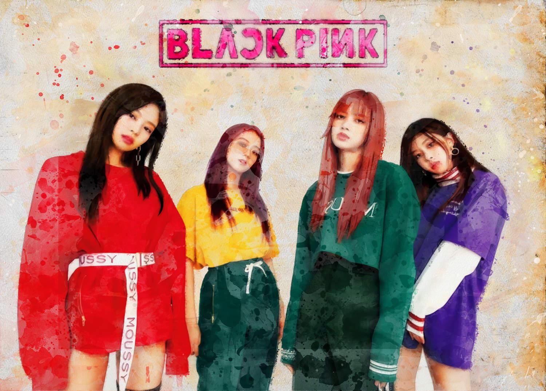 A3 Print - K Pop - Black Pink 4