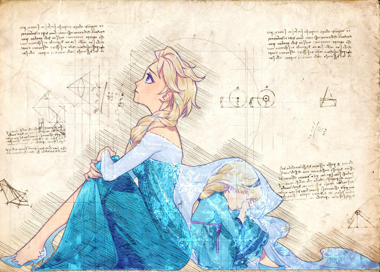 A3 Print - Disney - Frost Elsa 2