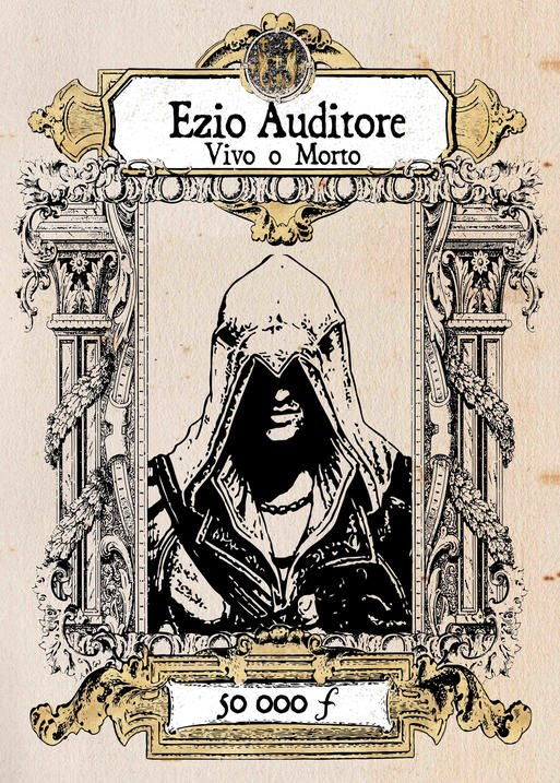 A3 Print -Assassins Creed - Ezio Auditore Vivo o Morte