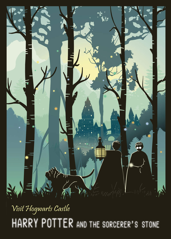 A3 Print - Harry Potter - Visit Hogwarts Castle