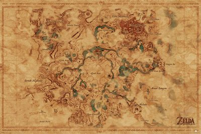 The Legend Of Zelda - Breath Of The Wild Hyrule World Map