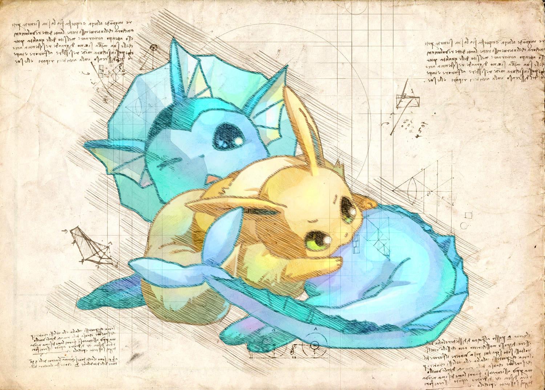 Pergament - Pokemon - Vaporeon