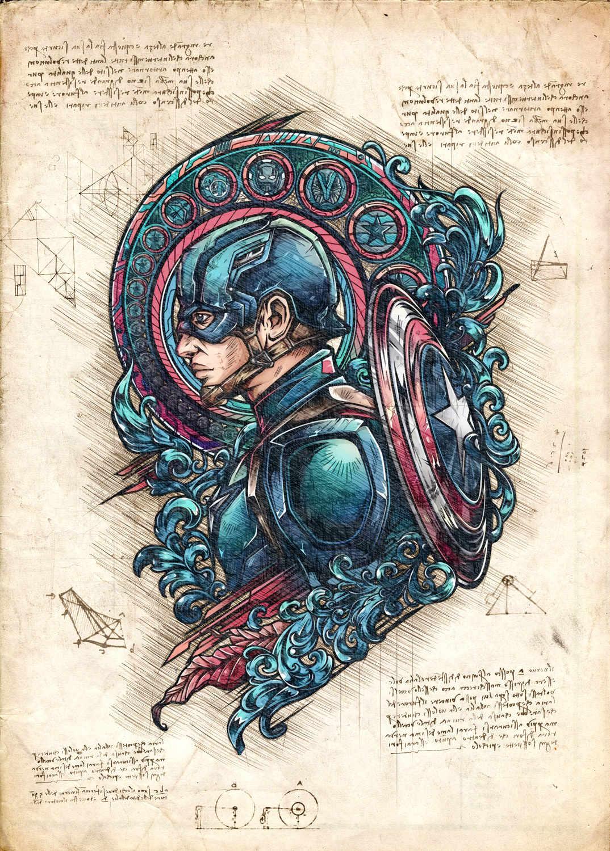 A3 Print - Captain America