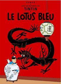 Poster - Tintin Le Lotus Bleu - Tintin Blå Lotus