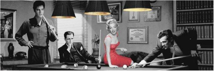 Consani - Legal action, Elvis, Marilyn, Dean, Bogart