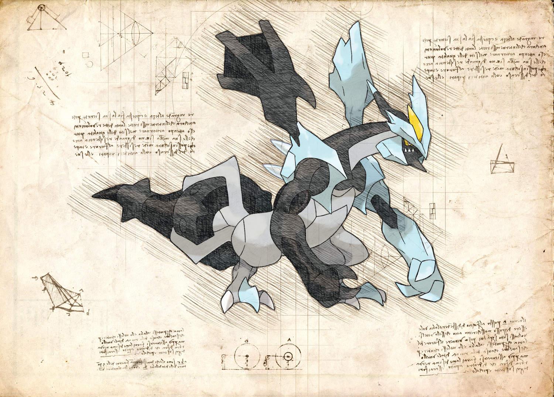 Pergament - Pokemon - Kyurem Black