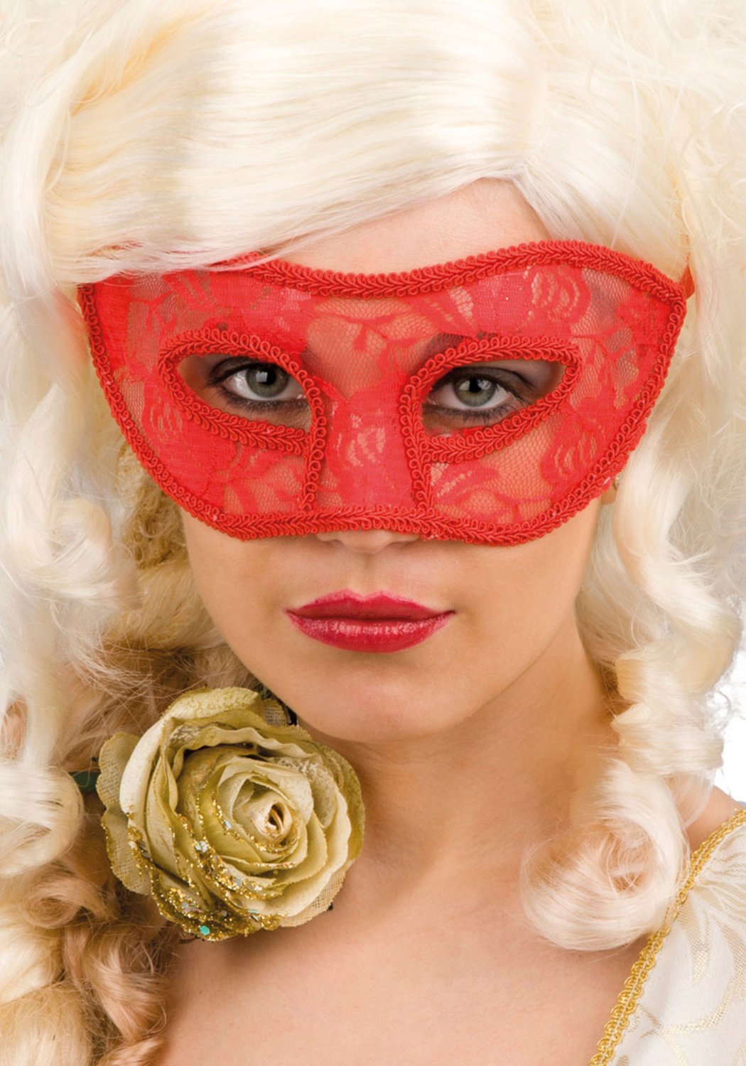 Ansiktsmask - Red lace mask