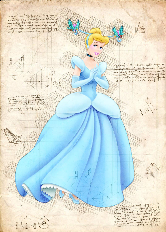 A3 Print - Disney - Cinderella - Askungen