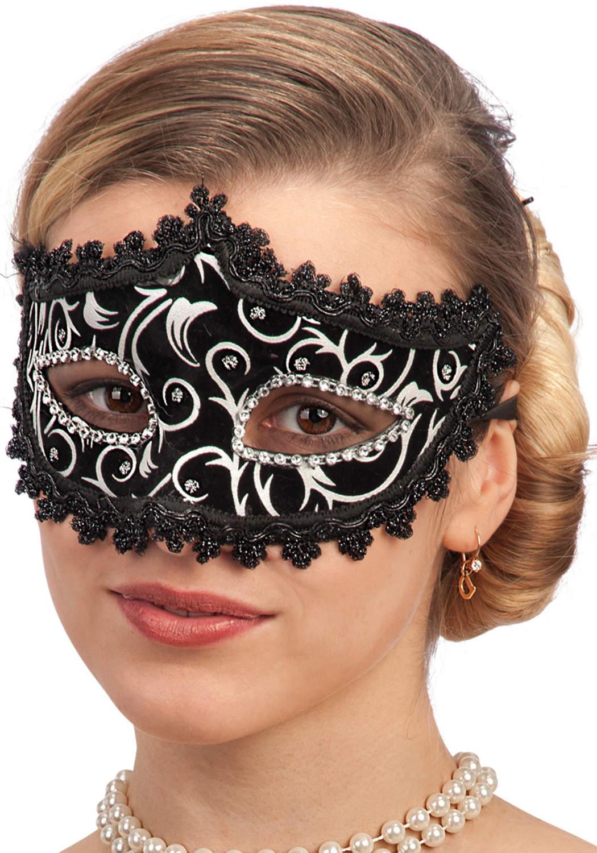 Ansiktsmask - Venetian black velvet mask