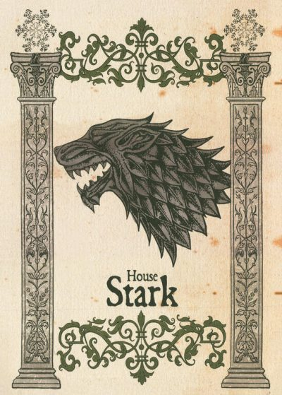 Pergament - Game Of Thrones - House Stark