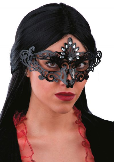 Ansiktsmask - Black mask with strass