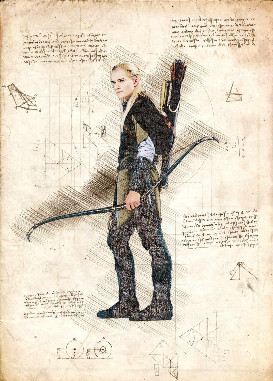 A3 Print - Lord of the rings - Legolas