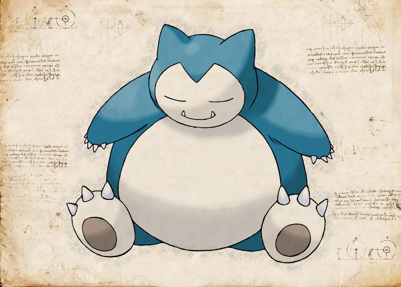 Pergament - Pokemon - Snorlax