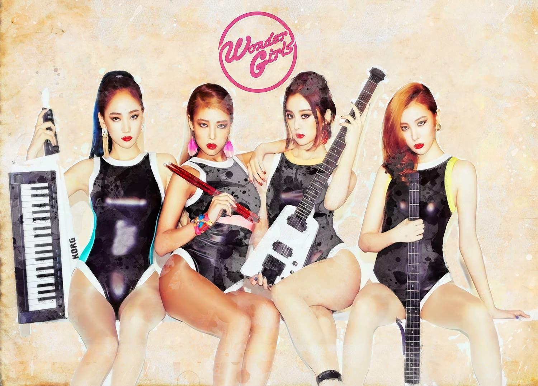 A3 Print - K Pop - Wonder Girls
