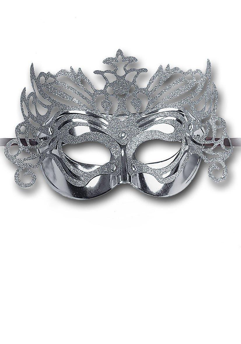 Ansiktsmask - Silver Metallic Hard Pvc Mask