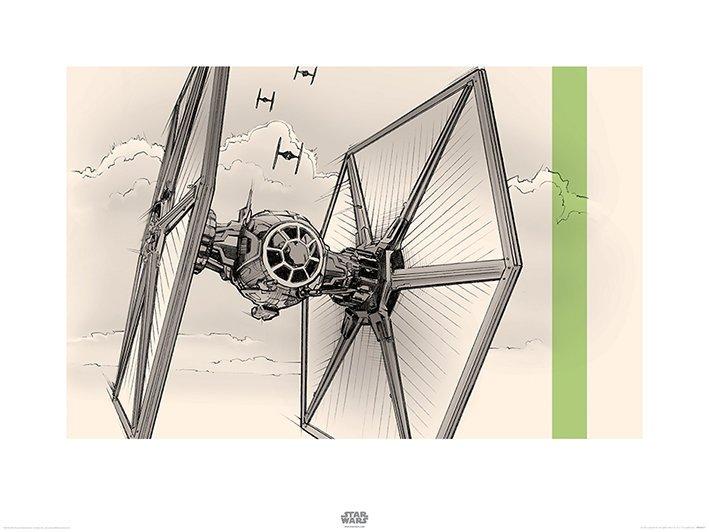 Star Wars Episode VII (TIE Fighter Pencil Art)