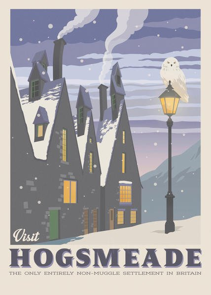 A3 Print - Harry Potter - Visit Hogsmeade