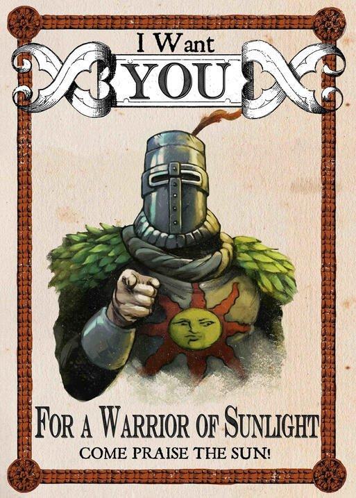 Pergament - Dark Souls - Warrior of Sunlight