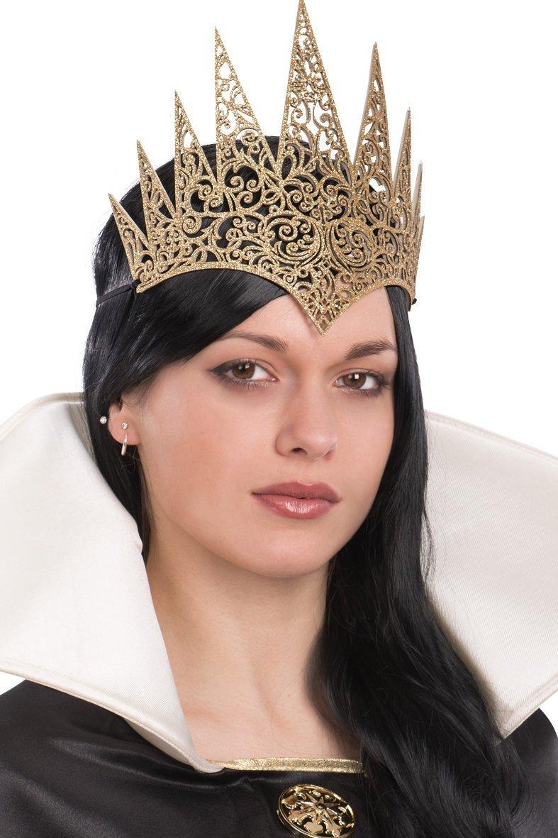 Ansiktsmask - Golden Crown in carved fabric