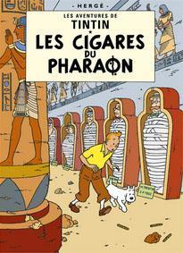 Poster - Tintin Les Cigars du Pharaon - Faraos cigarrer