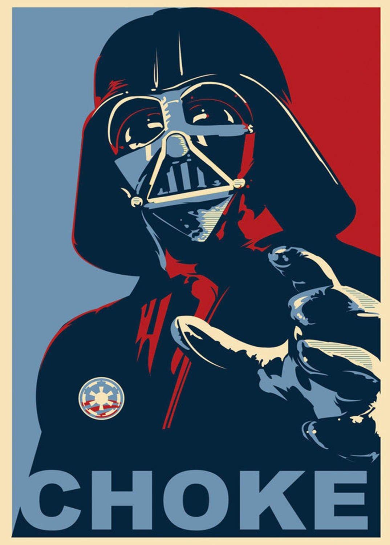 A3 Print - Star Wars - Darth Vader - Choke