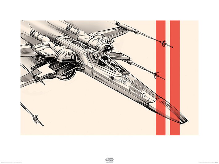Star Wars Episode VII (X-Wing Pencil Art)