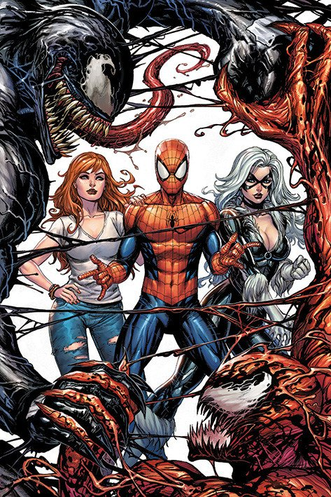 Venom -Venom and Carnage fight - Marvel