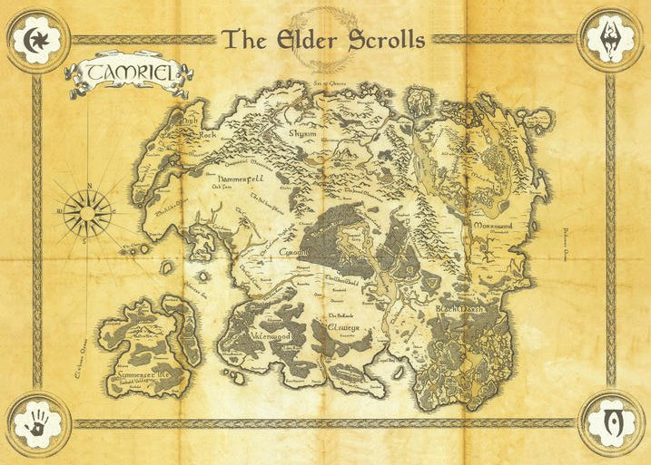 Pergament - The Elder Scrolls - Map of Tamriel