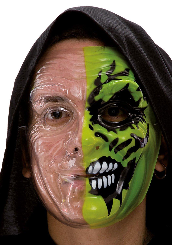 Ansiktsmask - Green half face painting