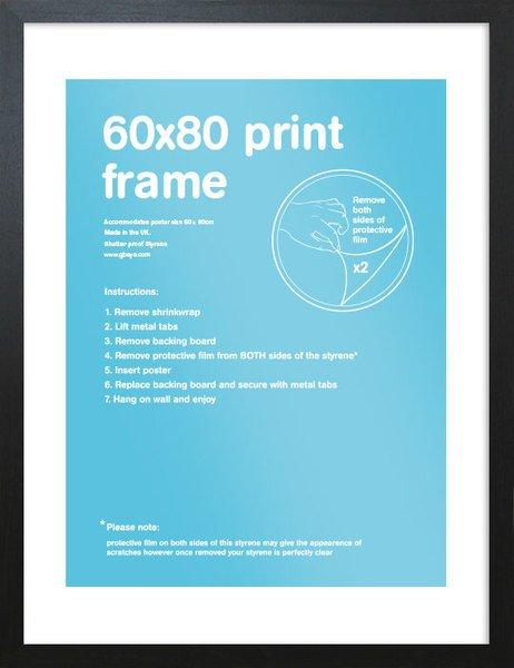 Svart träram som passar 60 x 80 cm affischer