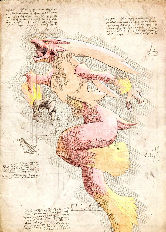 Pergament - Pokemon - Blaziken
