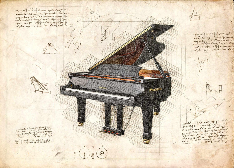 A3 Print - Music - Piano