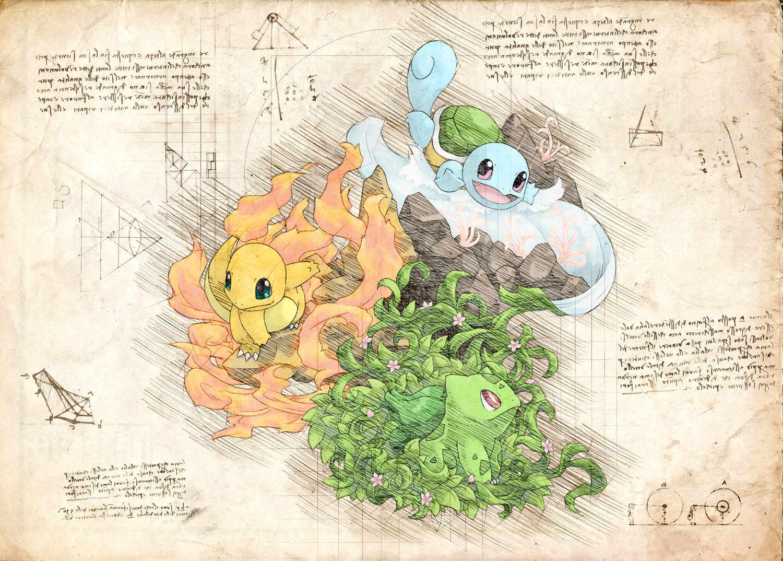 Pergament - Pokemon - Trio Starter