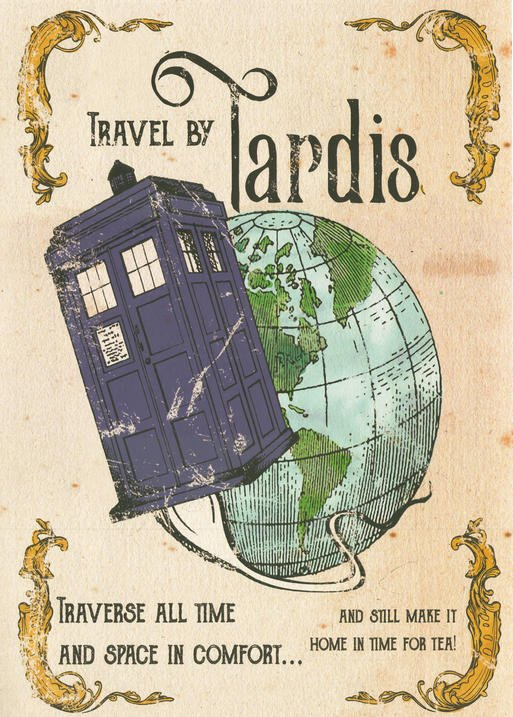 Pergament - Doctor Who - Travel by Tardis