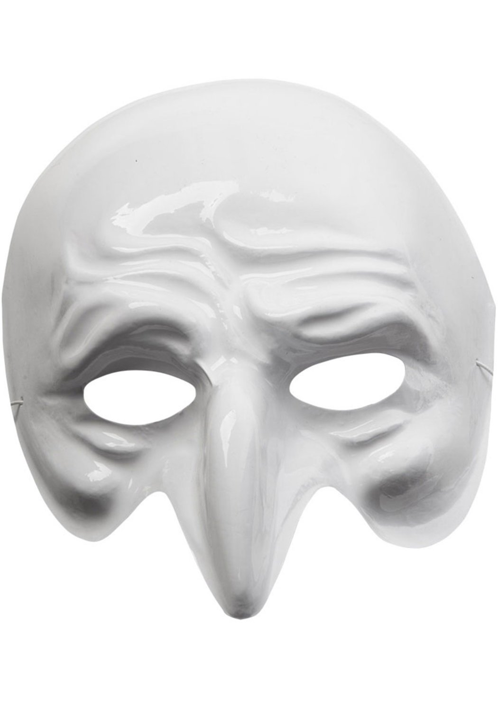 Ansiktsmask - White Pantalone Venetian mask