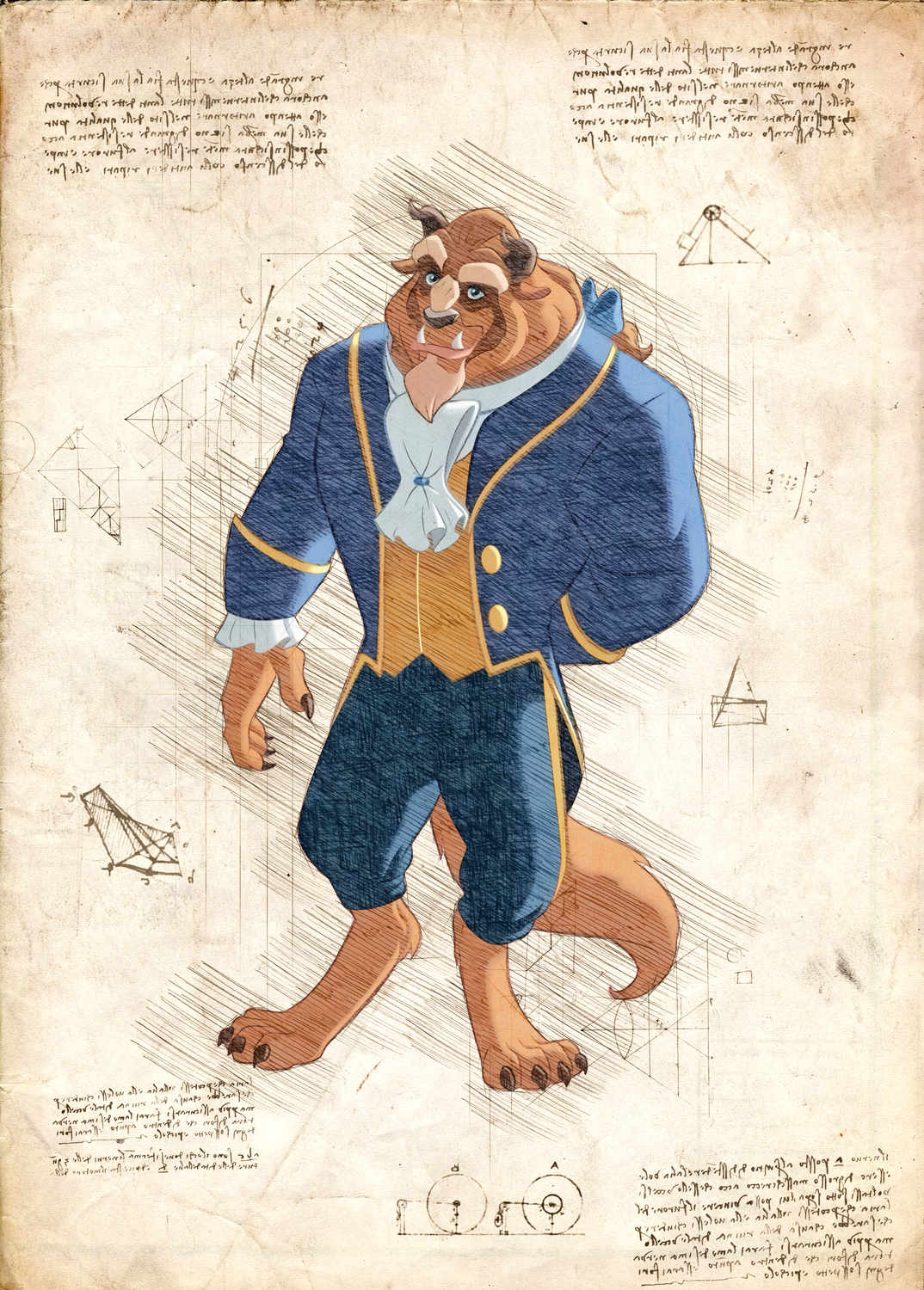 Pergament - Disney - Beauty and the beast
