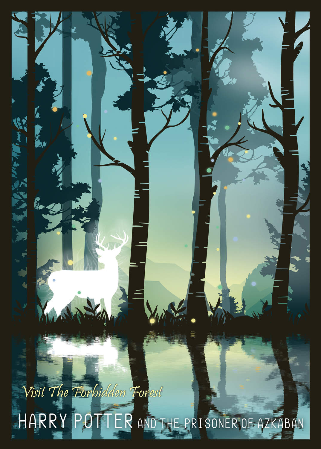 A3 Print - Harry Potter - Visit The Forbidden Forest