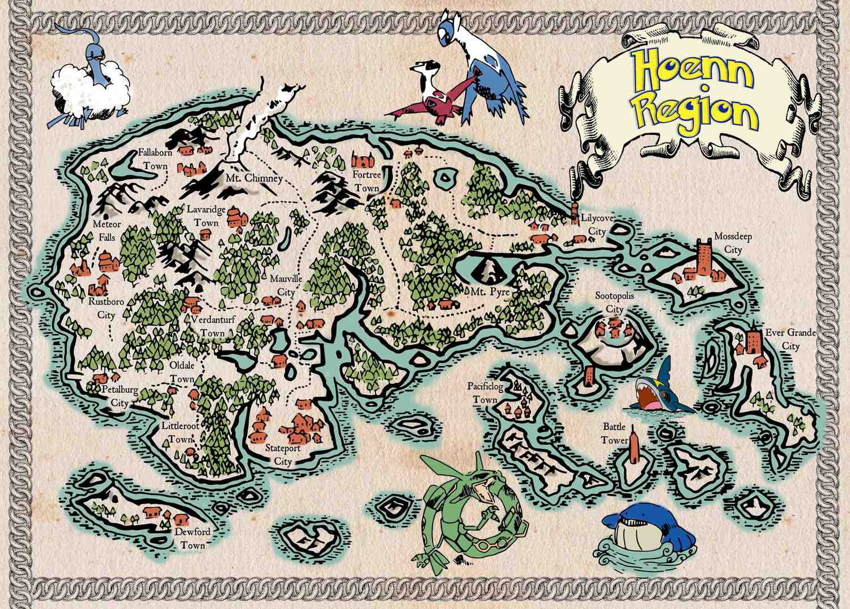 Pergament - Pokemon - Hoenn Region