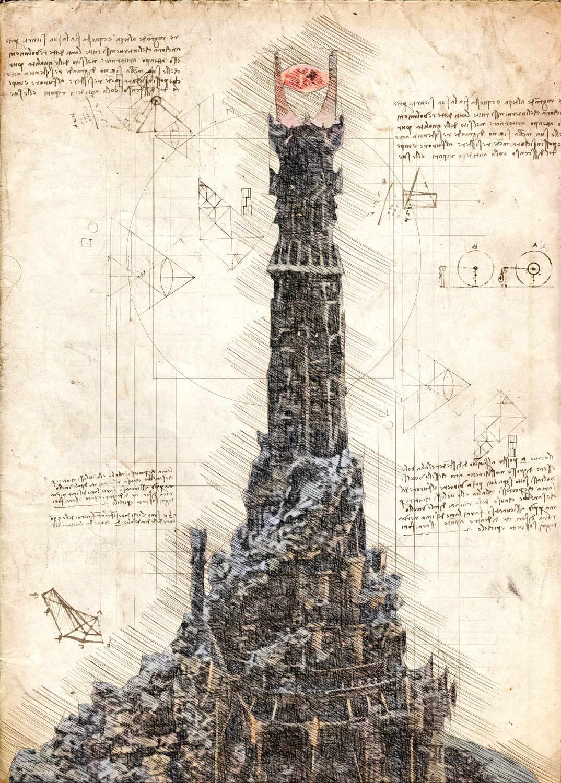 A3 Print - Barad Dur - The dark tower of Sauron