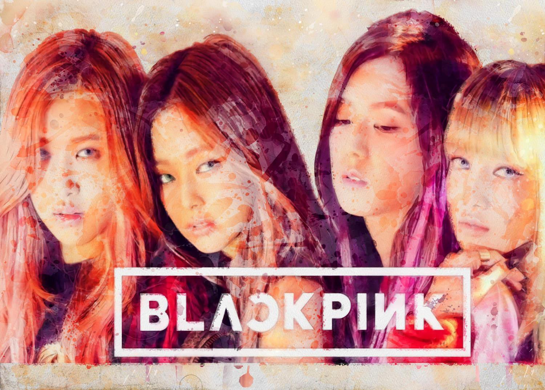 A3 Print - K Pop - Black Pink 1