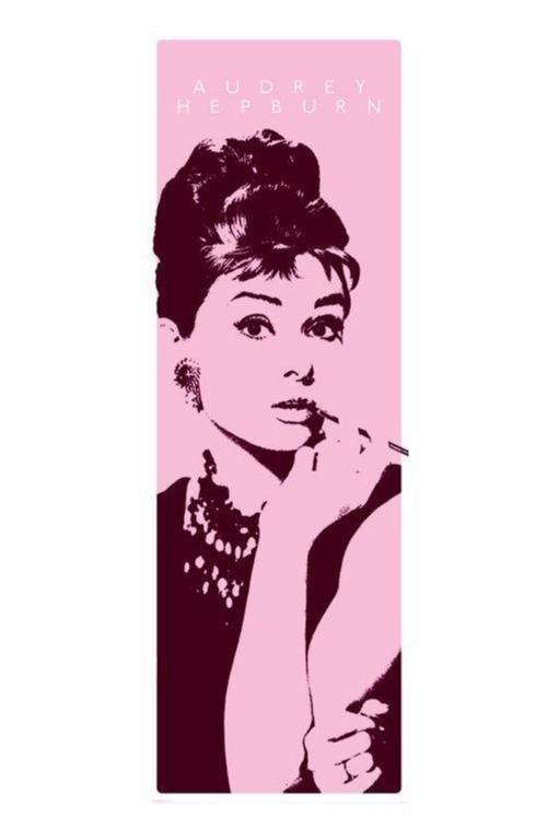 Poster - Audrey Hepburn - Cigarello (dörraffisch) -