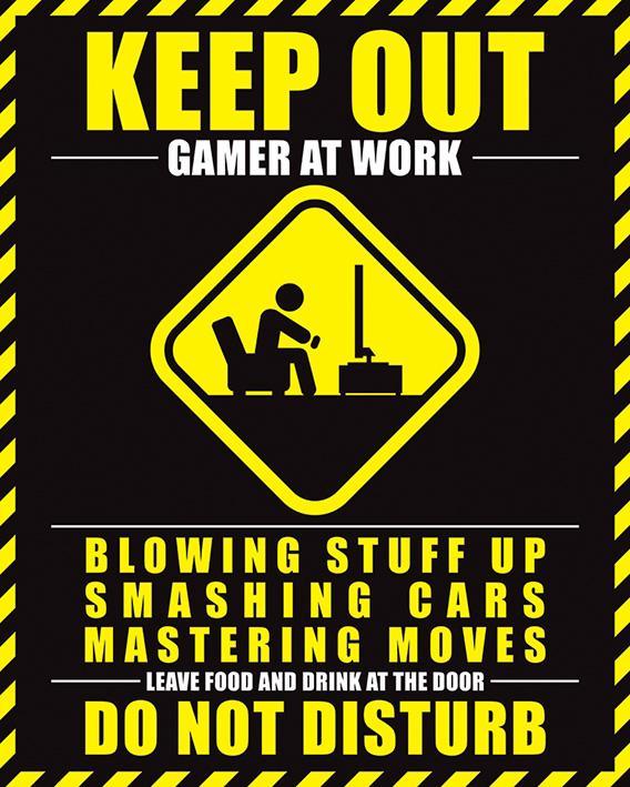 Gamer At Work - Do Not Disturb