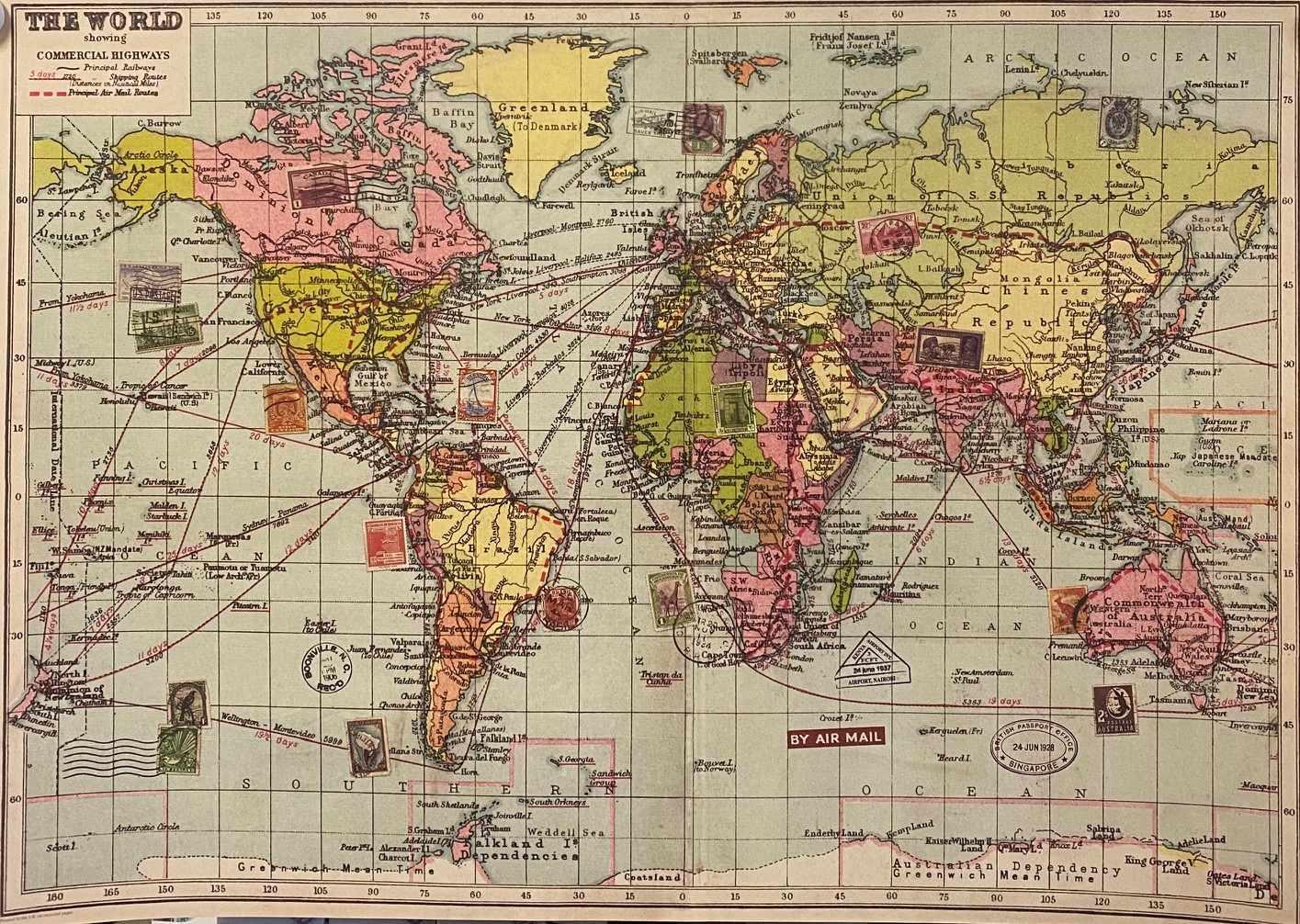Word Map - Gammal Världskarta