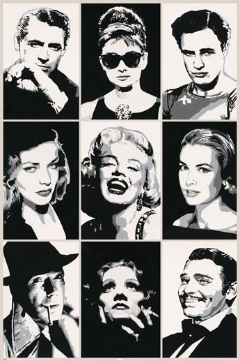 Famous actors - Pop art