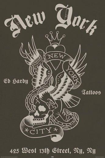 Ed Hardy Poster - New York