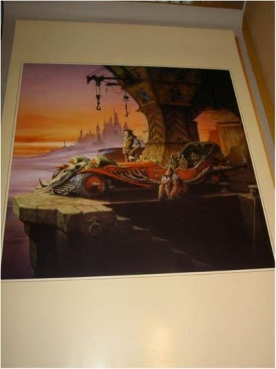 Rodney Matthews-Fantasy Art 18 (Goblin & race car)