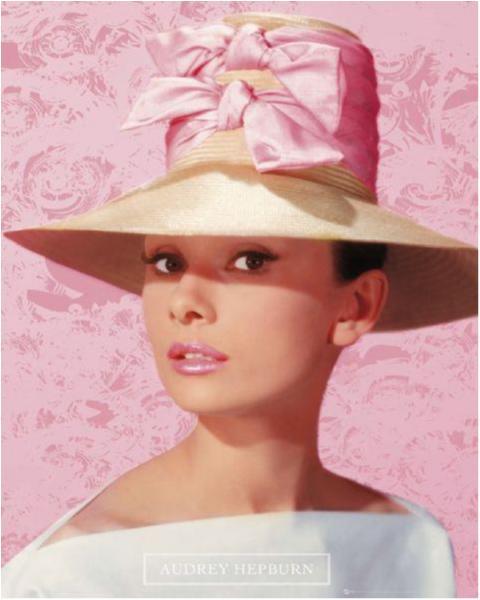Audrey Hepburn - Pink hat
