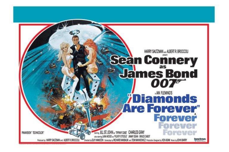 James Bond 007 - Diamonds are forever - One Sheet