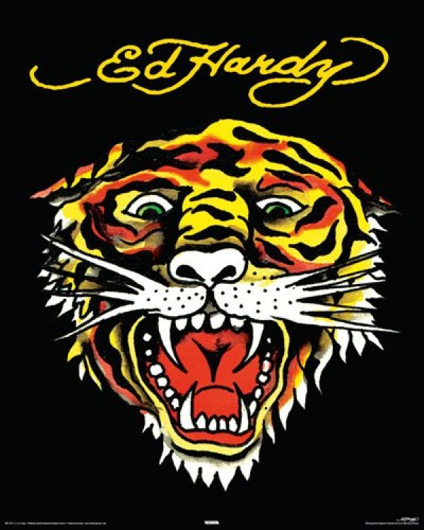 Ed Hardy Poster Tiger